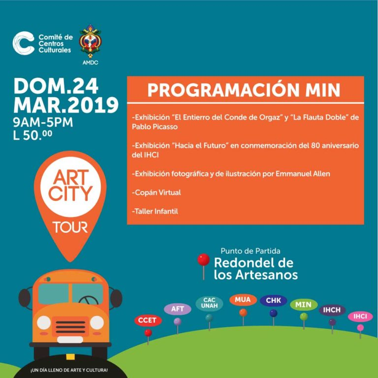 Art City Tour - dom.24.mar - 9am a 5pm - L 50.00